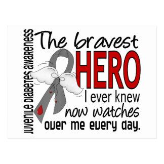 Bravest Hero I Ever Knew Juvenile Diabetes Postcard
