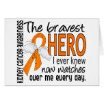 Bravest Hero I Ever Knew Kidney Cancer Greeting Card