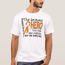 Bravest Hero I Ever Knew Kidney Cancer T-Shirt