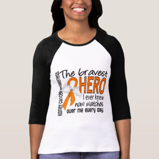 Bravest Hero I Ever Knew Kidney Cancer Tee Shirt