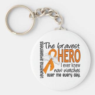 Bravest Hero I Ever Knew Leukemia Basic Round Button Keychain