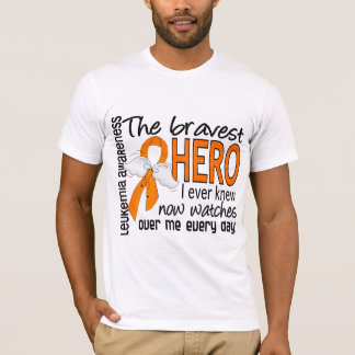 Bravest Hero I Ever Knew Leukemia T-Shirt