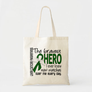 Bravest Hero I Ever Knew Liver Cancer Budget Tote Bag