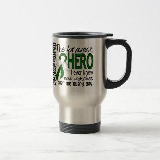 Bravest Hero I Ever Knew Liver Cancer 15 Oz Stainless Steel Travel Mug