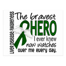 Bravest Hero I Ever Knew Liver Disease Postcard