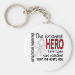 Bravest Hero I Ever Knew Lung Cancer Keychains