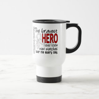 Bravest Hero I Ever Knew Lung Cancer Travel Mug