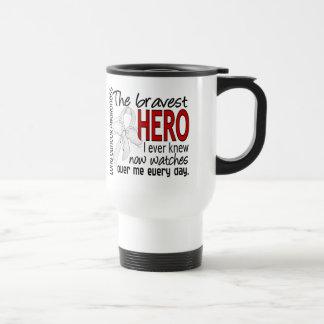 Bravest Hero I Ever Knew Lung Cancer Travel Mug