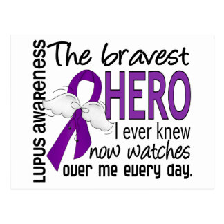Bravest Hero I Ever Knew Lupus Postcard