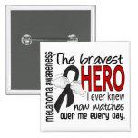 Bravest Hero I Ever Knew Melanoma Button