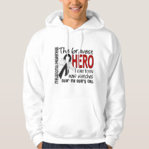 Bravest Hero I Ever Knew Melanoma Hoodie