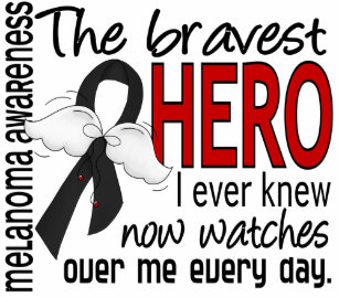 3486eba3909 Bravest Hero I Ever Knew Melanoma Hoodie