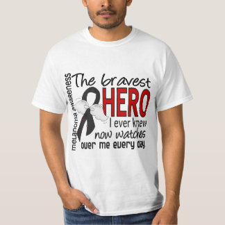 Bravest Hero I Ever Knew Melanoma T-Shirt