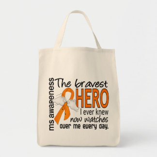 Bravest Hero I Ever Knew MS Grocery Tote Bag