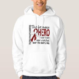 Bravest Hero I Ever Knew Multiple Myeloma Hooded Sweatshirts