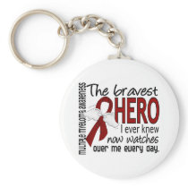 Bravest Hero I Ever Knew Multiple Myeloma Keychain