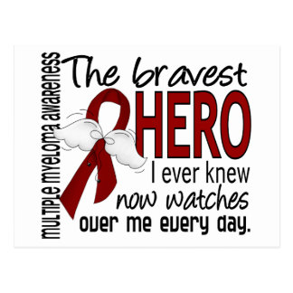 Bravest Hero I Ever Knew Multiple Myeloma Postcard