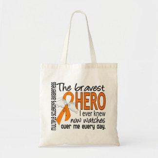 Bravest Hero I Ever Knew Multiple Sclerosis Budget Tote Bag