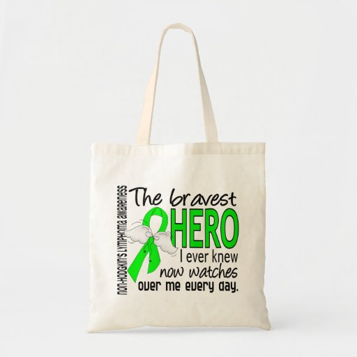 Bravest Hero I Ever Knew Non-Hodgkin's Lymphoma Canvas Bags