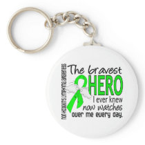 Bravest Hero I Ever Knew Non-Hodgkin's Lymphoma Keychain