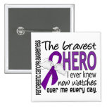 Bravest Hero I Ever Knew Pancreatic Cancer Pinback Button