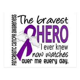 Bravest Hero I Ever Knew Pancreatic Cancer Postcard