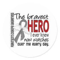 Bravest Hero I Ever Knew Parkinson's Disease Classic Round Sticker