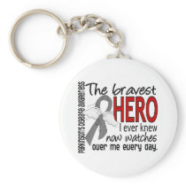 Bravest Hero I Ever Knew Parkinson's Disease Keychain