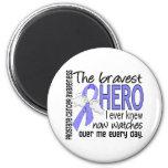 Bravest Hero I Ever Knew Prostate Cancer 2 Inch Round Magnet