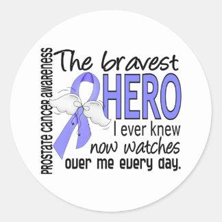 Bravest Hero I Ever Knew Prostate Cancer Classic Round Sticker