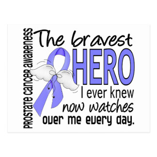 Bravest Hero I Ever Knew Prostate Cancer Postcard