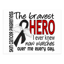 Bravest Hero I Ever Knew Skin Cancer Postcard