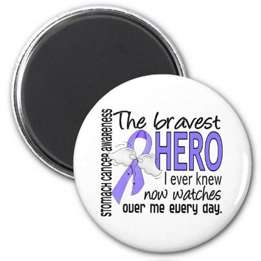 Bravest Hero I Ever Knew Stomach Cancer 2 Inch Round Magnet