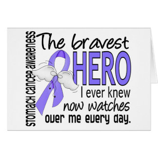 Bravest Hero I Ever Knew Stomach Cancer Greeting Card
