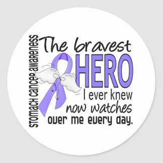 Bravest Hero I Ever Knew Stomach Cancer Classic Round Sticker