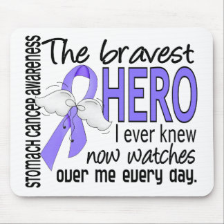 Bravest Hero I Ever Knew Stomach Cancer Mouse Pad
