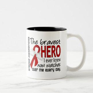 Bravest Hero I Ever Knew Stroke Two-Tone Coffee Mug