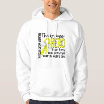 Bravest Hero I Ever Knew Testicular Cancer Hoodie