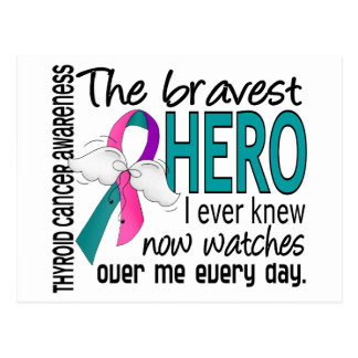 Bravest Hero I Ever Knew Thyroid Cancer Postcard