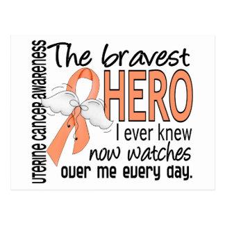 Bravest Hero I Ever Knew Uterine Cancer Postcard