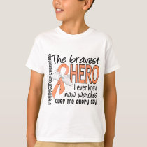 Bravest Hero I Ever Knew Uterine Cancer T-Shirt