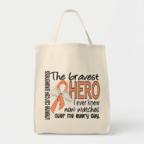 Bravest Hero I Ever Knew Uterine Cancer Tote Bag