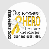Bravest Hero I Knew COPD Classic Round Sticker