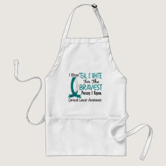 Bravest Person I Know Cervical Cancer Adult Apron