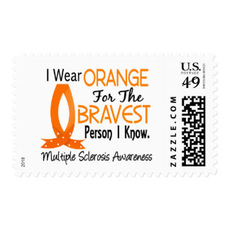 Bravest Person I Know Multiple Sclerosis Postage Stamp