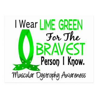 Bravest Person I Know Muscular Dystrophy Postcard