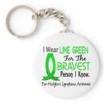 Bravest Person I Know Non-Hodgkin's Lymphoma Keychain