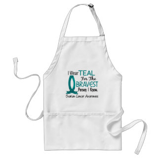 Bravest Person I Know Ovarian Cancer Adult Apron