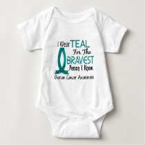 Bravest Person I Know Ovarian Cancer Baby Bodysuit