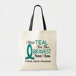 Bravest Person I Know Ovarian Cancer Budget Tote Bag
